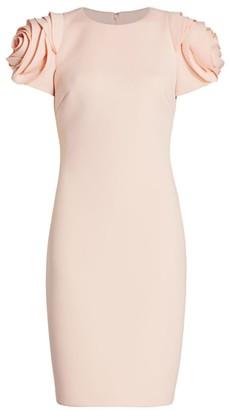 Badgley Mischka Rosette Cocktail Dress