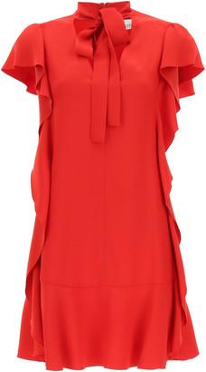 RED Valentino RUFFLED MINI DRESS 38 Red