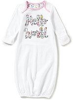Starting Out Baby Girls Newborn-6 Months Hello World Gown