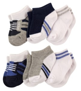 Luvable Friends Baby Boys and Girls Socks Set, Pack of 6