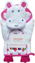 giggle Hooded Towel and Washmitt Set - Heart - One Size