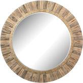 One Kings Lane Bevin Round Mirror, Natural
