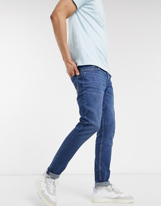 Esprit skinny fit jeans in mid wash blue