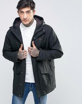 Fred Perry Parka In Dark Racing Green