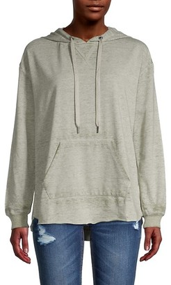 High-Low Cotton-Blend Hoodie