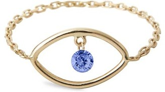 PERSÉE Eye Of The Tiger 18K Yellow Gold Sapphire Chain Ring