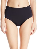 Anne Cole Women's Color Blast Solids Tummy Control High Waist Bikini Bottom