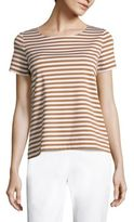 Lafayette 148 New York Striped Boatneck Tee