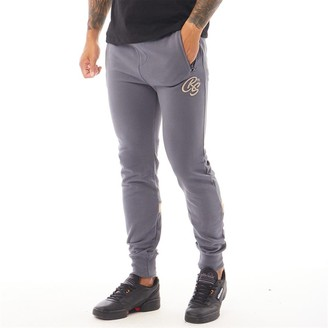 Crosshatch Mens Closeburn Zip Pocket Joggers Blue Stone
