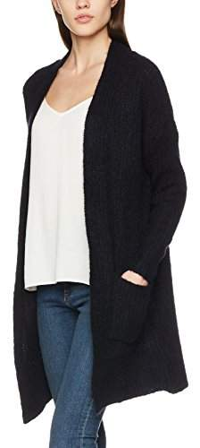 Vero Moda Women's Vmhelen Ls Long Open Cardigan (Black Beauty), (Size: Small)
