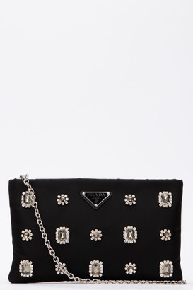 Prada Jew Embellished Clutch Bag