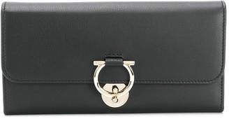 Salvatore Ferragamo foldover Gancio wallet