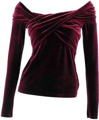 Me&Thee Close But No Cigar Red Wine Velvet Top