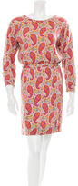 A.P.C. Long Sleeve Paisley Print Dress