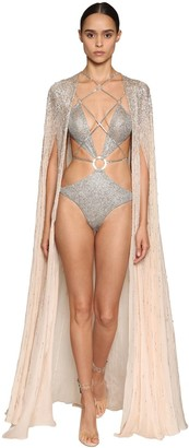 Julien Macdonald EMBELLISHED CHIFFON CAPE