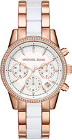 Michael Kors Women's Chronograph Ritz Two-Tone Stainless Steel and Acetate Bracelet Watch 37mm MK6324