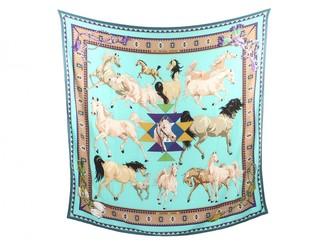 Hermes Chale 140 Multicolour Cashmere Scarves