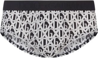 Dolce & Gabbana Monogram Logo Print Briefs