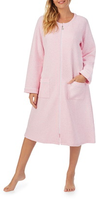 Eileen West Diamond Quilt Zip Robe
