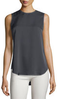 Theory Melana Modern Georgette Sleeveless Top