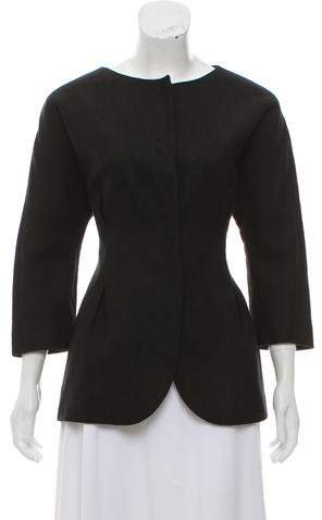 Giambattista Valli Silk & Linen-Blend Jacket