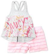 juicy couture (Girls 4-6x) Two-Piece Logo Tank & Shorts Set