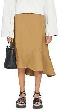 3.1 Phillip Lim Wool Ruffle Hem Skirt