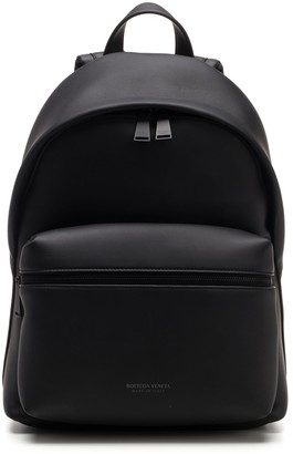 Bottega Veneta Zipped Logo Backpack