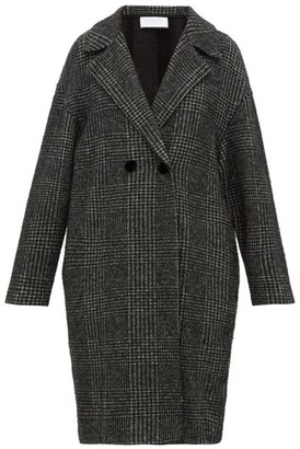 Harris Wharf London Glen-checked Glitter-fil Coupe Coat - Black White