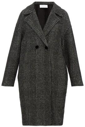 Harris Wharf London Glen-checked Glitter-fil Coupe Coat - Womens - Black White