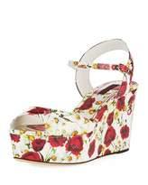 Dolce & Gabbana Poppy Wedge Platform Sandal