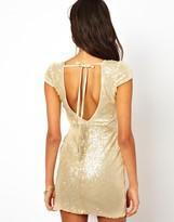 Rare Mesh Insert Sequin Dress