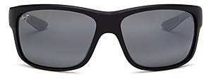 Maui Jim Men's Southern Cross Polarized Square Wrap Sunglasses, 63mm