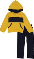 Tahari Boys Boys' Casual Pants GOLD - Gold Color Block Hoodie & Navy Pants - Infant, Toddler & Boys