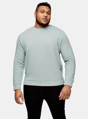 Topman BIG Blue Ottoman Ribbed Sweatshirt*
