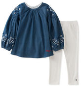 Tommy Hilfiger Two-Piece Denim Tunic and Leggings Set