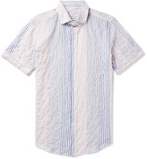 Incotex Eddie Slim-Fit Striped Stretch-Cotton Shirt