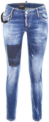 DSQUARED2 Jennifer Distressed Cropped Jeans
