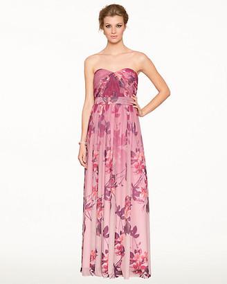 Le Château Floral Knit Convertible Gown