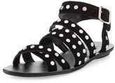 Loeffler Randall Karin Studded Strappy Flat Sandal