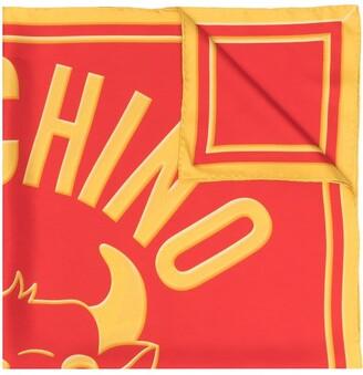 Moschino Logo-Print Square-Shape Scarf