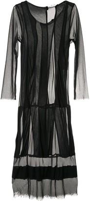 Comme Des Garçons Pre Owned Mesh Panels Midi Dress
