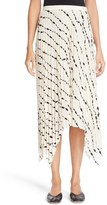 Helmut Lang Women's Print Pleated Silk Skirt
