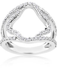 Summerrose Jewelry Summer Rose 14k White Gold 3/4ct TDW Wide Split-Shank Diamond Ring