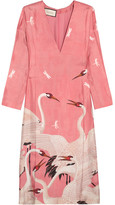 Gucci Printed Silk-twill Dress - Pink