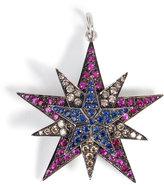 Ileana Makri Silver/18K Gold Pendant with Rubies, Diamonds, Sapphires