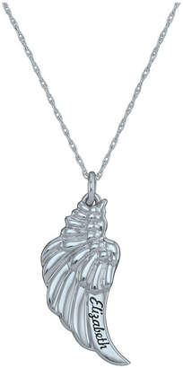FINE JEWELRY Personalized Angel Wing Pendant Necklace