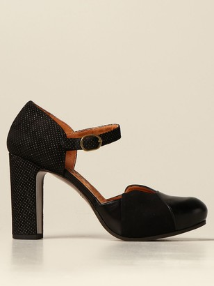 Chie Mihara Disis Sandal In Suede And Leather