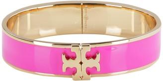 Tory Burch Kira Enamelled Logo Brass Bracelet