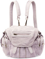 Alexander Wang Marti Mini Tumbled Leather Backpack, Lavender